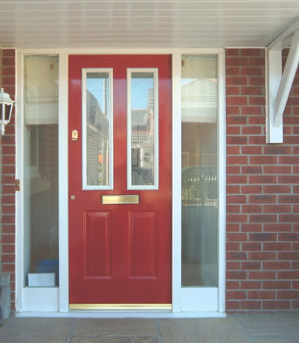 Our composite doors come in seven colours: red, green, blue, black, white, oak and now also in darkwood.